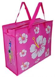 Модная пляжная сумка для девочки.  Внутри одно большое отделение.
